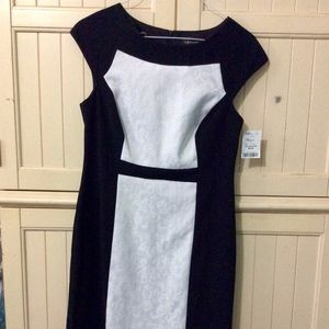 connected apparel Black and White Dress